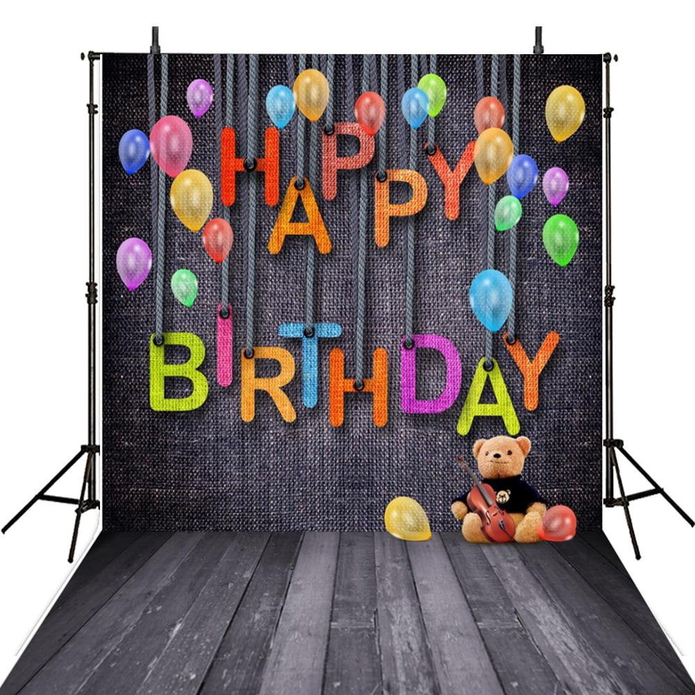 Aliexpress Buy Happy Birthday Photography Backdrop Vinilo Vinyl For Kids Party Background Photo Studio Fotohintergrund From