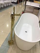 Шампанское золото отдельно стоящая Ванна кран Водопад ванна