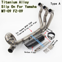 Motorcycle Exhaust Muffler Contact Middle Link Pipe Titanium Alloy Full Exhaust System Slip On For YAMAHA MT 09 FZ 09 MT09 FZ09