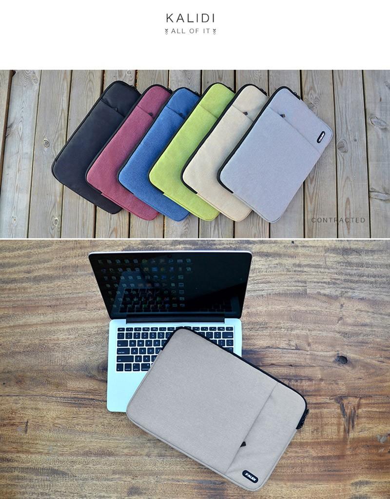 KALIDI Laptop Sleeve Bag Waterproof Notebook Case For Macbook Air 11 13 Pro 13 15 Dell Asus HP Acer Sleeve 13.3 14 15.6 Inch