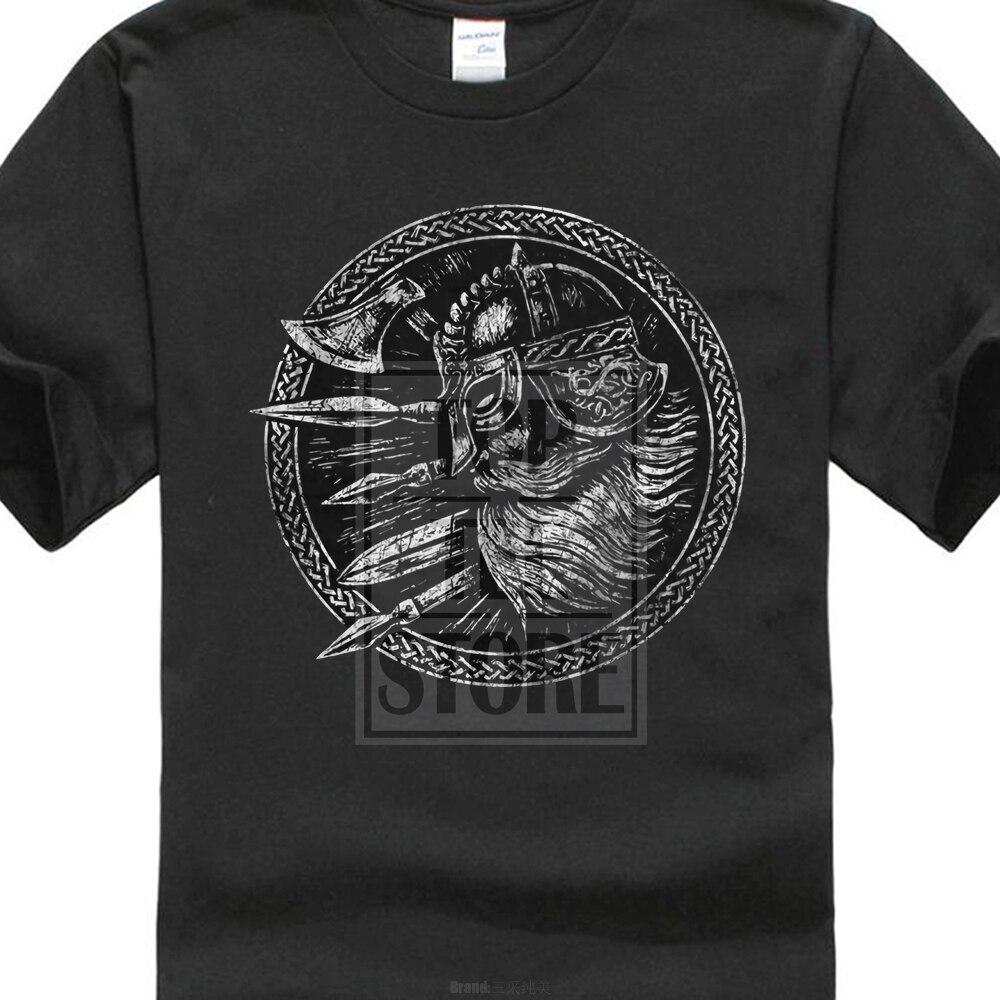 Viking Shield I T-Shirt Walhalla Vikings Odin Loki Thor Ragnar Wikinger Schild