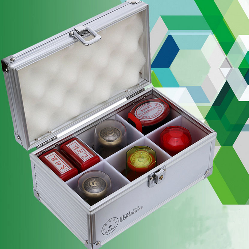 Aluminum alloy with a seal seal box 6 cell portable seal box trumpet accounting supplies seal box orange box with cs1 6