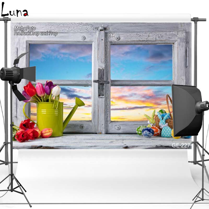 MEHOFOTO Happy Easter Vinyl Photography Background For Newborn Window Flower New Fabric Polyester Backdrop For photo studio 227 mehofoto night sky vinyl photography background for newborn new material polyester backdrop for children photo studio f2743