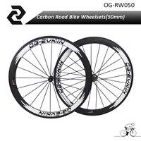 שפת 700C גלגלי כביש פחמן אופניים זוג גלגלי נימוק מכריע עומק 50 מ