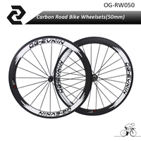 2018 llantas de Ruedas de Bicicleta del camino DEL Carbón 700C bisiklet 50mm de Profundidad Clincher wheelset Powerway R13 Aero flat R36 OG-EVKIN