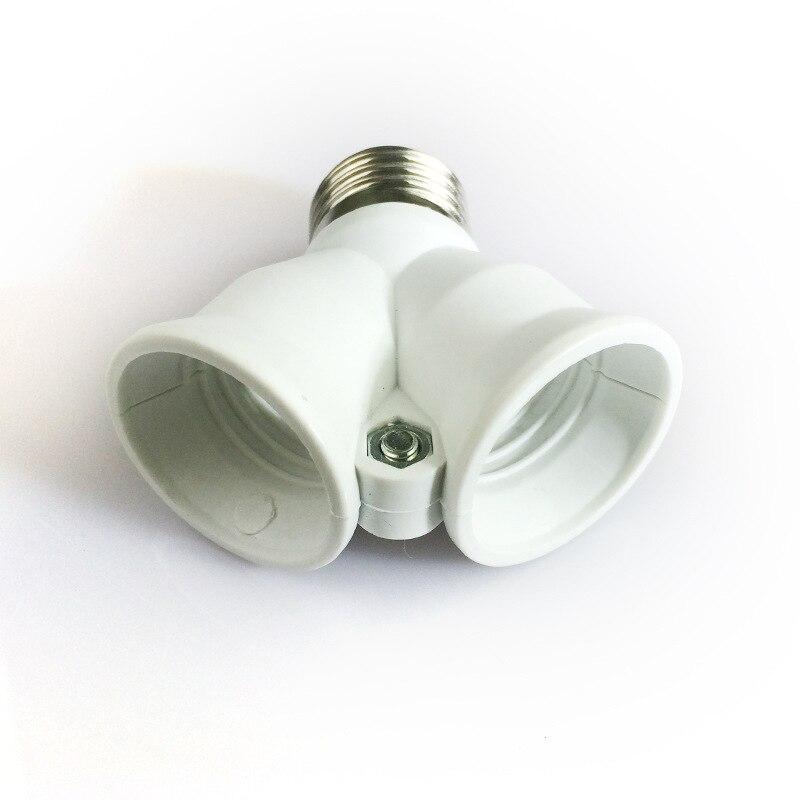 1Pcs Fireproof E27 to 2 E27 lamp Holder Converter Socket Conversion light Bulb Base type 2E27 Y Shape Adapter For led Lamp