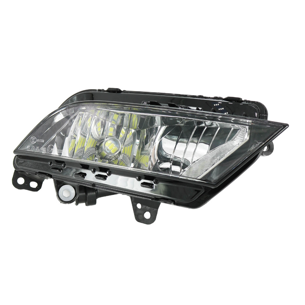 Right Side Car LED Light For Seat Toledo 2013 2014 2015 2016 2017 12V LED Front Bumper Fog Light Fog Lamp right side for vw polo vento derby 2014 2015 2016 2017 front halogen fog light fog lamp assembly two holes