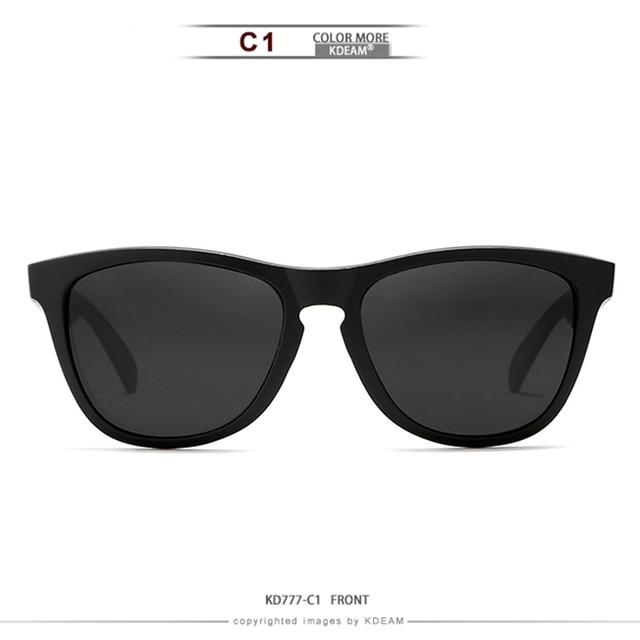 3ee64c0e60 Gafas de sol Kdeam Tr90 para hombre polarizadas gran variedad colores gafas  deporte marco Unisex con caja colección