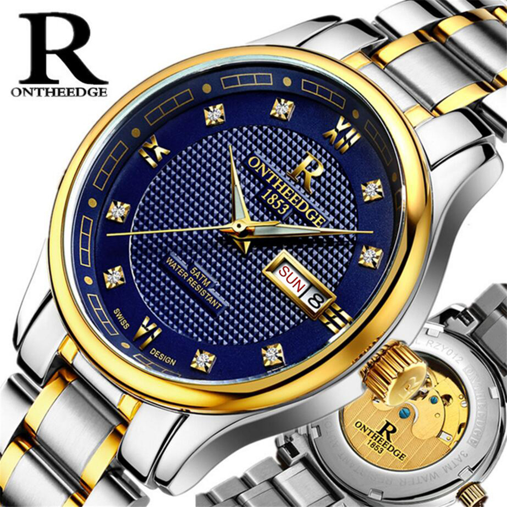 Men Automatic Mechanical Watches Top Brand Luxury Stainless Steel Watch Mens Sport Wrist Watch Luminous Waterproof Male relogio men luxury automatic mechanical watch fashion calendar waterproof watches men top brand stainless steel wristwatches clock gift