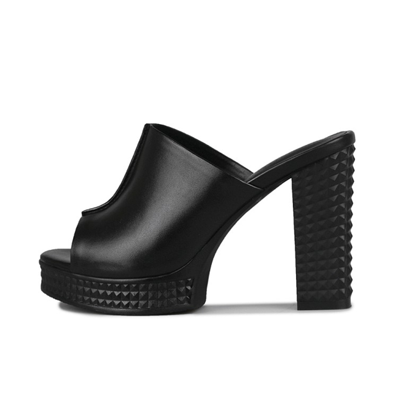 c41187749e6 ... Woman Size 40 KARINLUNA Sandals Footwear Shoes Toe Fashion Peep Heels  High Chunky Shoes Summer Plus ...