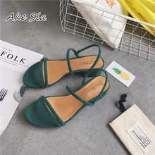 Новинка; уличные тапочки на плоской подошве; сандалии в римском стиле с ремешками и бусинами; модная женская обувь на низком каблуке; x69