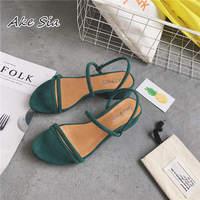 Новые уличные сандалии на плоской подошве; римские сандалии с ремешками, Украшенные бусинами; модная женская обувь на низком каблуке; x69