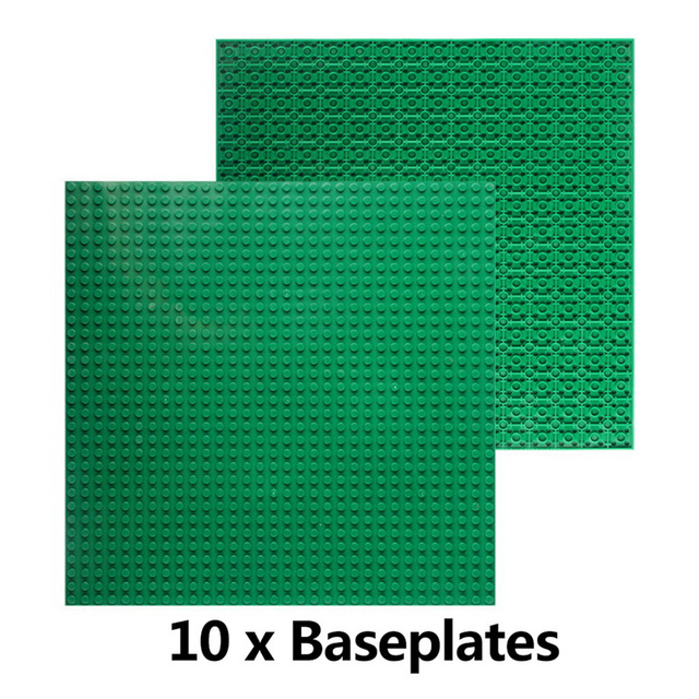 Hot Colors Double Side 10 Pieces Small Bricks Baseplates 32*32 Dots  Size 10″*10″ Base Plate For Building Blocks DIY Blocks