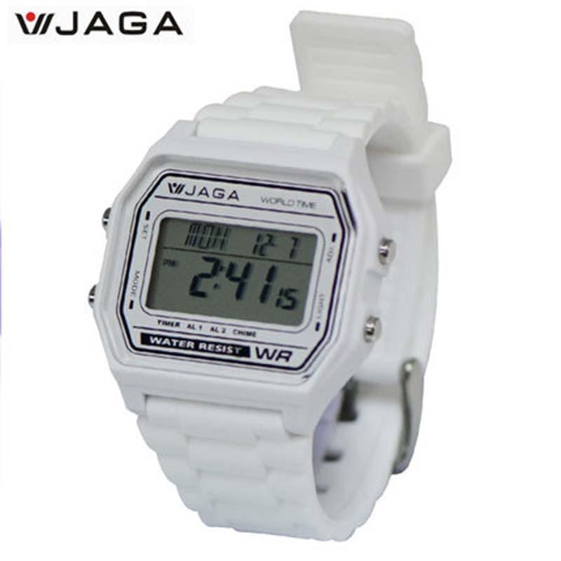 JAGA Creative Personality Minimalist Normal Waterproof LED Watch Men And Women Couple Watch Smart Electronics Watches  M1103