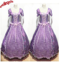 All purple color Adult Cinderella Costume Ball Gown Dress Hoop Enchanting Adult Cosplay Princess Dress w1742