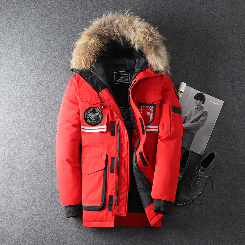 90% White Duck Down Men's Down Jackets Hig Quality Warm Long Fashion Business Winter Clothing Casual Coat Male Parka Overcoat(China)