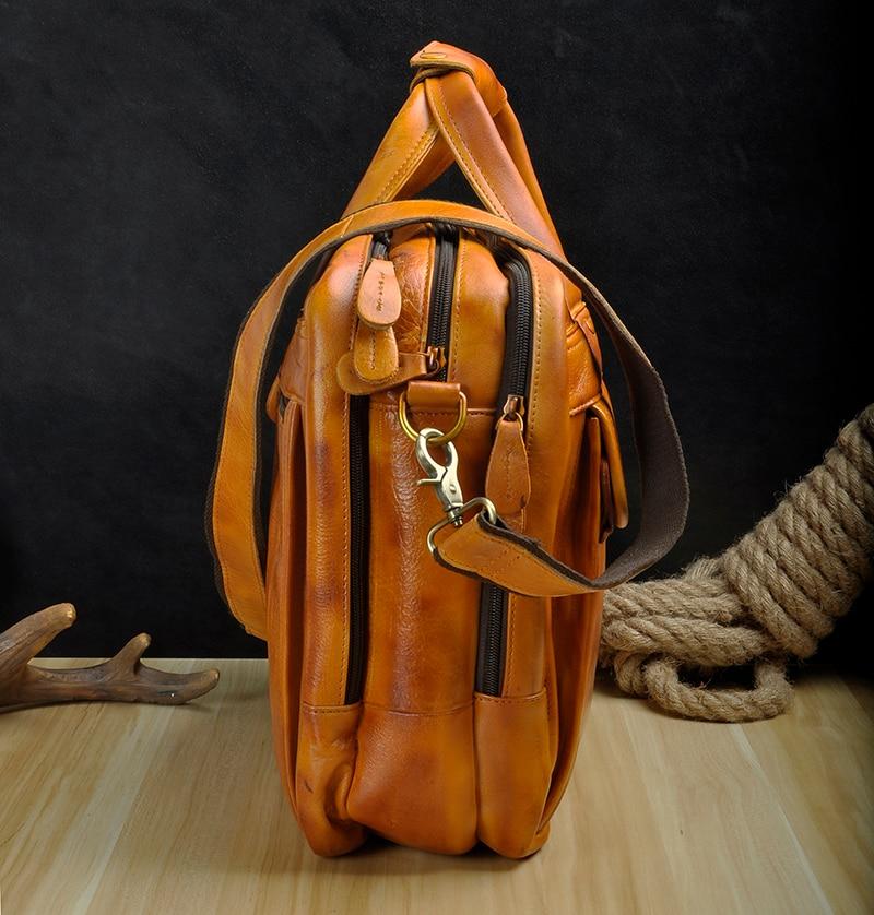HTB1tzNvKrSYBuNjSspfq6AZCpXaV Men Oil Waxy Leather Antique Design Business Briefcase Laptop Document Case Fashion Attache Messenger Bag Tote Portfolio 7146