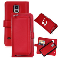 Luxury Brand Leather Case Cover For Samsung Galaxy S5 S5 Neo Vintage Zipper Card Holder Wallet