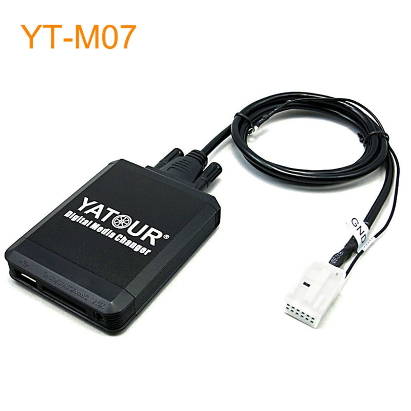 Yatour M07 Car MP3 USB SD CD Changer for iPod AUX with Optional Bluetooth for Seat Altea Leon Toledo 2006-2010 yatour car adapter aux mp3 sd usb music cd changer 8pin cdc connector for renault avantime clio kangoo master radios