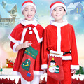 Fashion Christmas Costumes Set for Girls Boy 2016 New Trendy Clothing Set Pants Hat Dress Cloak Santa Claus Lovely Child Clothes