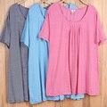 O envio gratuito de algodão camisetas mulheres plus size manga curta tamanho grande 2015 verão ladies tops tees 5XL 6XL Y421