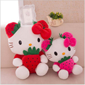 2016 35cm 45cm The New plush Toys Child 2 Color KT Cat Doll Strawberry Filling Pillow Free Door Valentine's Day Gift Girl x262