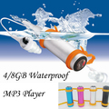 Colorful 8GB Swimming Diving Waterproof IPX8 Water proof MP3 Players Sports MP3 Music Player with FM Radio Headphone for Surf