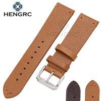 2017 New Genuine Leather Watchbands 18 20 22mm Men Brown Fashion Watch Band Strap Women Belt