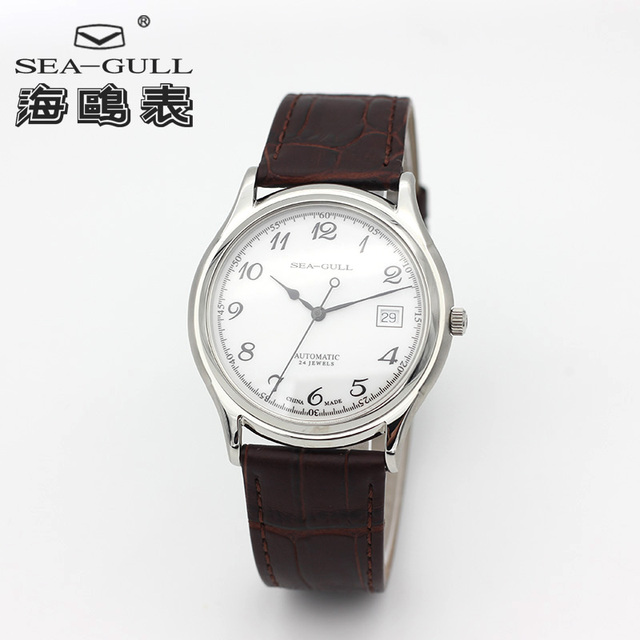 Seagull Ultra Thin 9mm Thick Classic 3 Hands Self winding ST1812 Movement Auto Date Automatic Mens Dress Watch 819.332