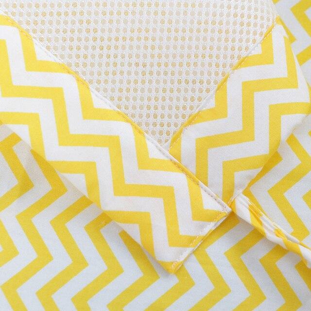 2Pcs/Set Breathable Summer Baby Bedding Bumper Collision Half Around baby bumper crib set Cotton Printing Mesh Safety Rails 5