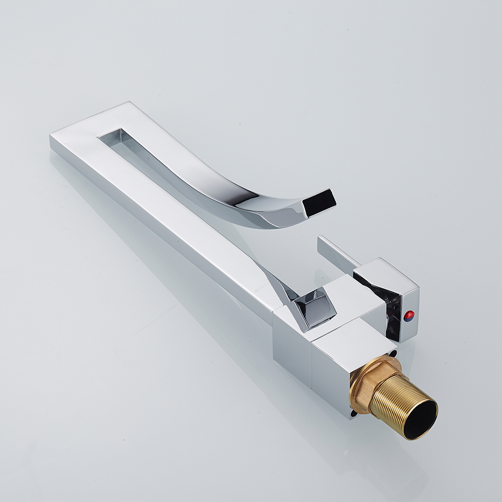 Basin Faucets Chrome Brass Square Tall Bathroom Sink Faucet Single Handle Deck Mounted Toilet Hot And Cold Mixer Water Tap 9060