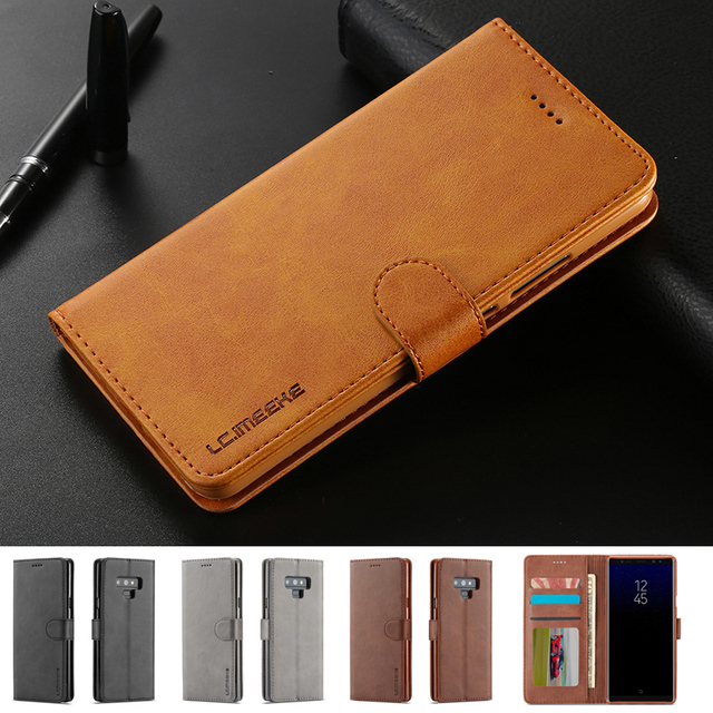cbe28f8fd Flip Case For Samsung Galaxy Note 9 Case Leather Wallet Luxury Phone Cases  Samsung Galaxy Note