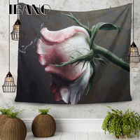 Rose Flower 150X200 CM Ultra clear Pixels 4 Holes Banners Flags Poster Hanging Cloth Tapestry Background Decor