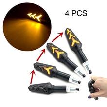 4Pcs Motorcycle LED Turn Signal Light Indicator Turning Lamp For YAMAHA jym 125 zy125t yzf-r125 sr400 xvs 950 ybr 125 etc.