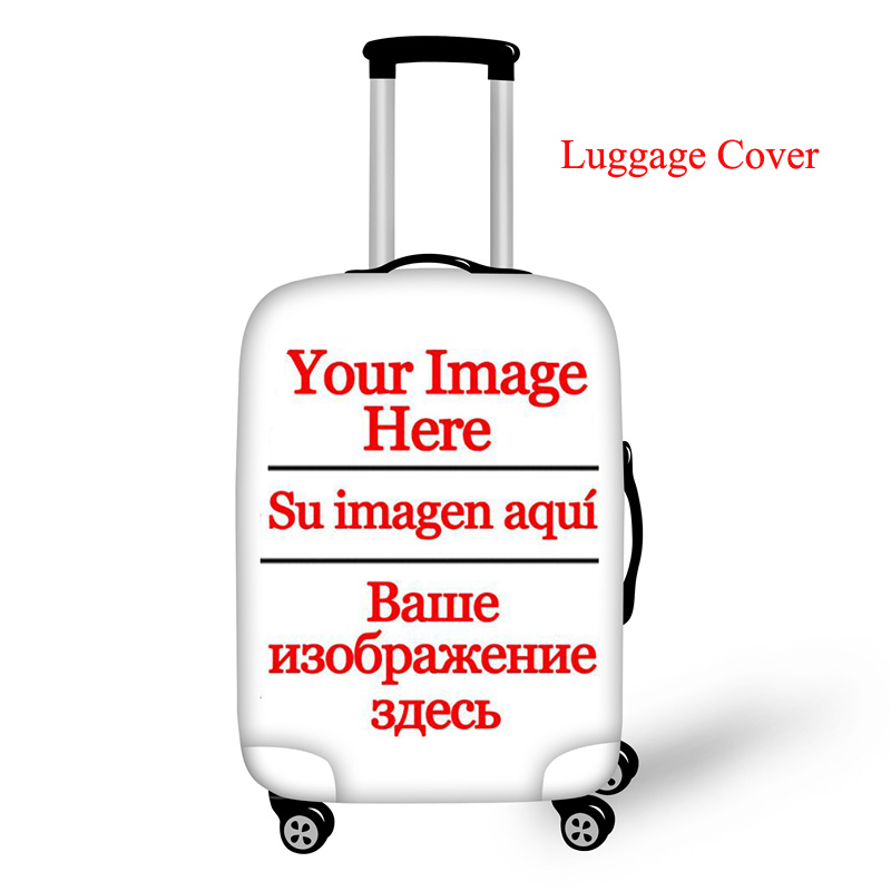Twoheartsgirl Customize Your Image Logo Suitcase Protective Cover Cute Luggage Cover 18-30 Inch Travel Accessorie Luggage Tag