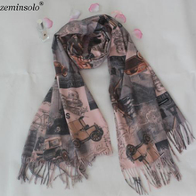 Za Cotton Scarves For Women Shawls Wraps Fashion Printed Female Scarf Hijab Stoles Pashmina Winter Cashmere Foulard