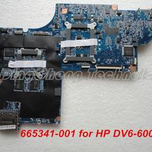 HOLYTIME материнская плата для ноутбука hp DV6 DV6-6000 материнская плата для ноутбука 665341-001 аккумулятор большой емкости HM65 1 ГБ тестирование
