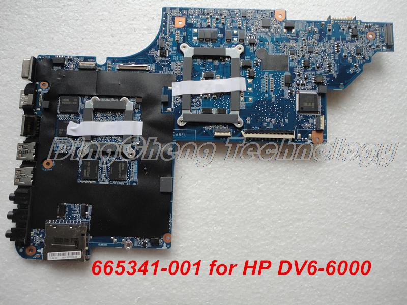 Шели материнская плата для ноутбука HP DV6 DV6-6000 ноутбук материнская плата 665341-001 HM65 1 ГБ 100% тестирование