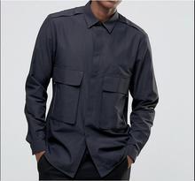 S-5XL!!!2017 Fashion slim fashion shirt basic brief long-sleeve casual shirt personalized men's clothing outerwear