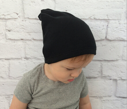 1 Piece Winter Autumn Crochet Hat Girl Boy Cap Unisex Beanie Solid Color Cotton knitted toddlers hat  womensdate hot sale 1pcs winter autumn black crochet hat girl boy cap beanie star infant cotton knitted toddlers children hat