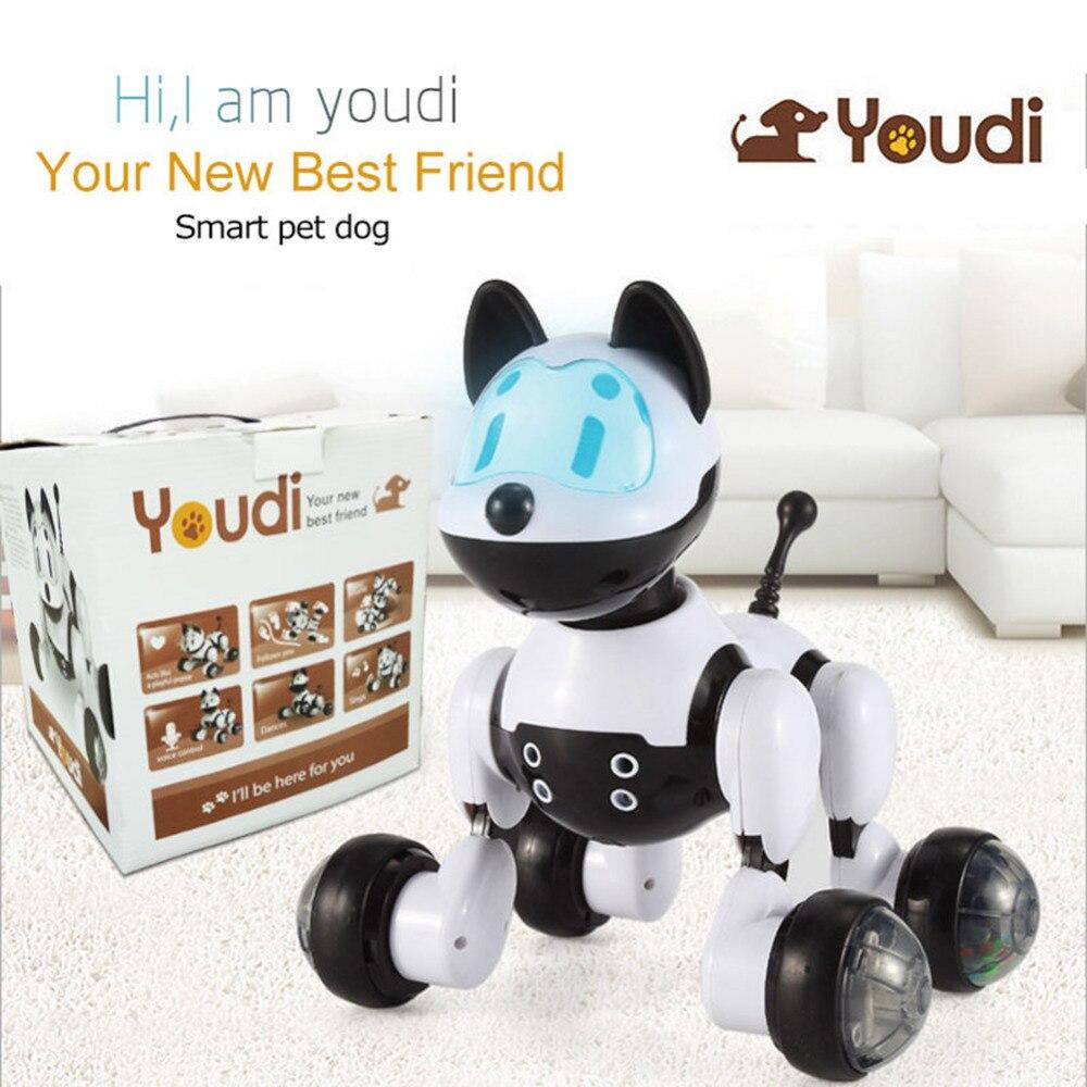 Commande vocale Électronique Pet Chien Chat Robot Intelligent Interactif De Danse Chanter Marche Chiot D'action avec Captation du geste Jouets Kid Cadeau