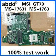abdo MS-17631 MS-1763 motherboard for MSI GT70 X7829 notebook motherboard PGA947 HM87 DDR3 100% test work(China)