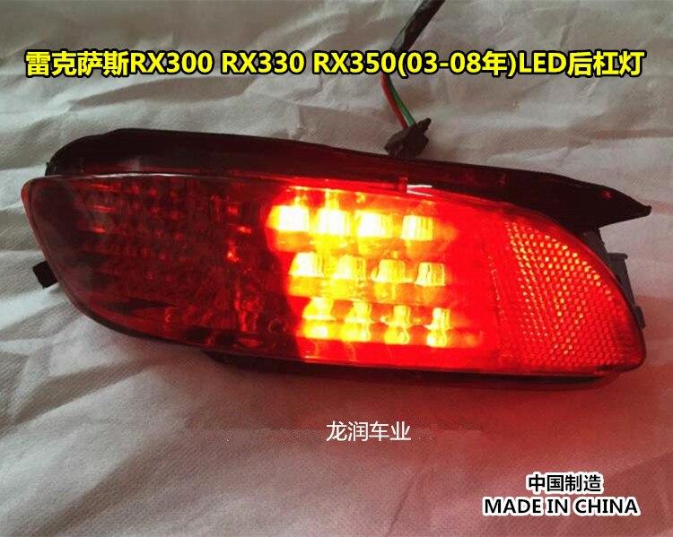 eOsuns rear bumper light fog lamp tail light for LEXUS RX300/330/350(2003-2008)HARRIER toyota VENZA, 2pcs