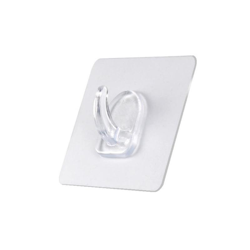 Traceless Hook Strong Hole Free Wholesale Magic Paste Strong Transparent Suction Cup Wall Hanging Hook Kitchen Bathroom