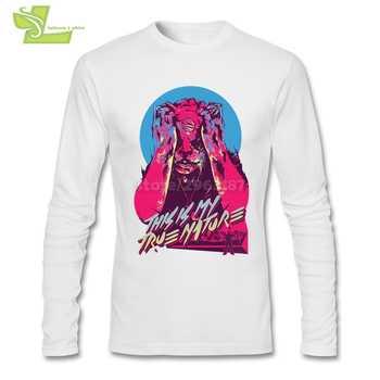 huge discount daa37 73a10 Hotline Miami Fresco Divertente T-Shirt da Uomo O-Collo Manica Lunga