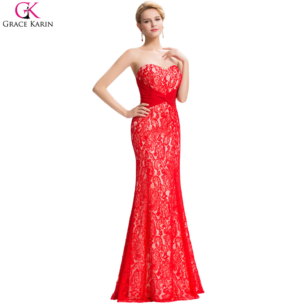 Compare Prices on Sexy Long Red Prom Dresses with Lace- Online ...