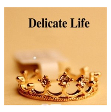 G221 New Fashion Flash Drill Crown Ring Wedding Vintage Jewelry Accessories For Women Girl