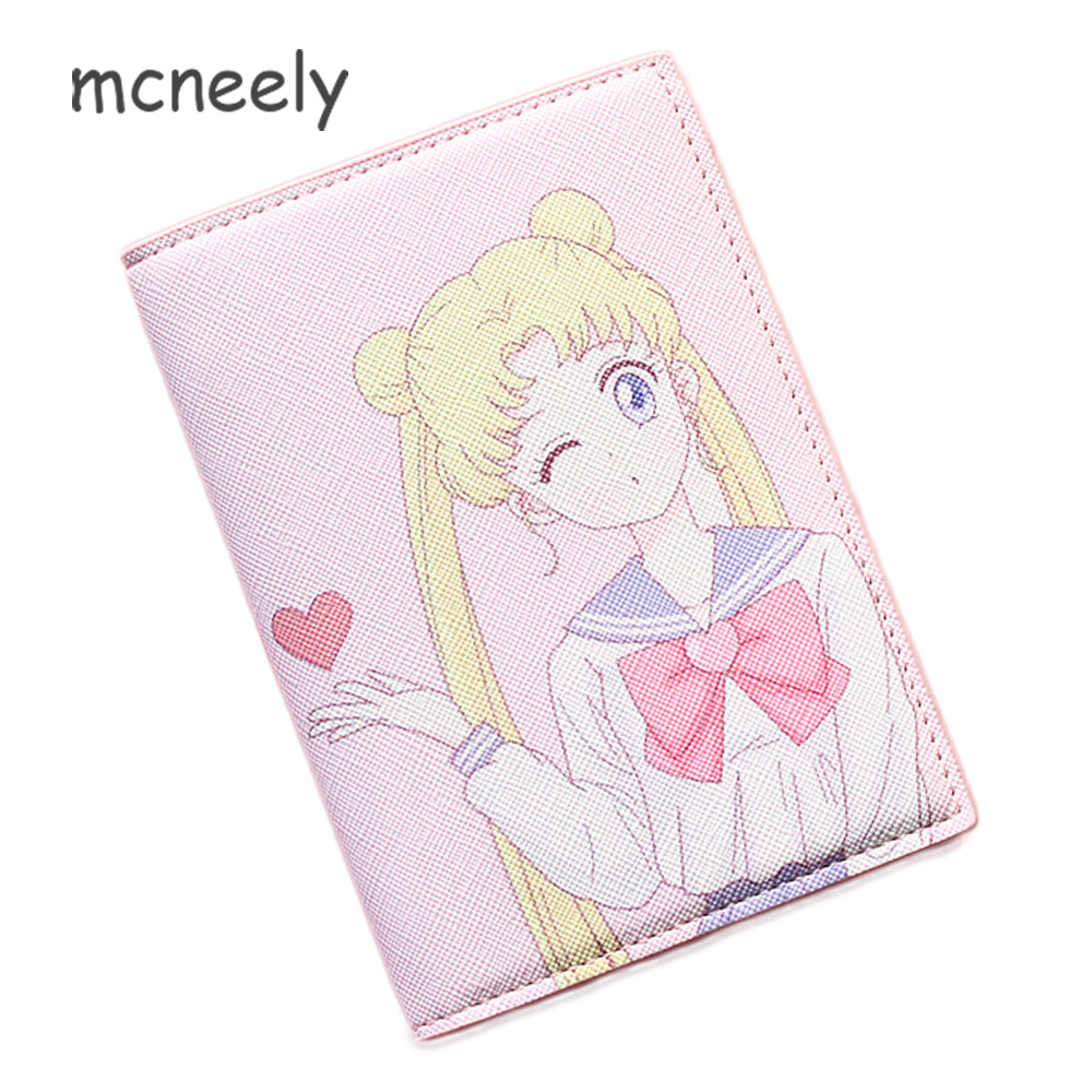New Cartoon Passport Holders,Girl Travel Passport Cover,PU Leather Sailor-Moon Design With 5 Different Styles For Choose T57-23