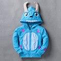 2016 Детей Толстовки для мальчиков кофты ребенок пуловеры девушки с капюшоном куртки дети верхняя одежда весна осень пальто динозавров