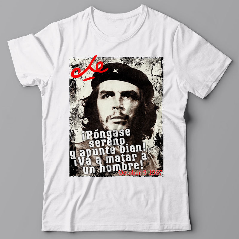2019 Summer T Shirt O-Neck Casual High Quality Che Guevara T Shirt - Last Words - Cuba Revolution Fidel Communist Tees Design image